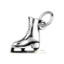 Anhänger Eiskunstlauf-Schlittschuh in echt Sterling-Silber 925 oder Gold, Charm, Ketten- oder Bettelarmband-Anhänger