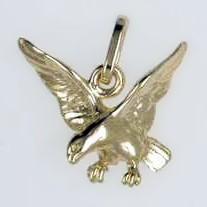 Anhänger Adler in echt Sterling-Silber oder Gold, Charm, Ketten- oder Bettelarmband-Anhänger