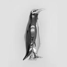 Zierfigur Pinguin in echt Sterling-Silber 925, Standmodell
