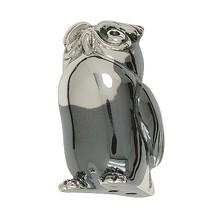 Zierfigur Eule in echt Sterling-Silber 925 teiloxidiert - Standmodell