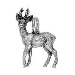 Anhänger Reh in echt Sterling-Silber 925 oder Gold, Ketten- oder Schlüssel-Anhänger