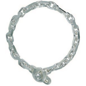 Schlüsselkette, Ankerkette mit Kugelverschluss, Schlüsselmechanik in Sterling-Silber 925/000 für Anhänger