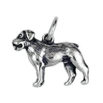 Anhänger Rottweiler, Hund in echt Sterling-Silber 925 oder Gold, Charm, Ketten- oder Bettelarmband-Anhänger