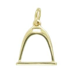 Anhänger Steigbügel in echt Sterling-Silber 925 oder Gold, Charm, Ketten- oder Bettelarmband-Anhänger