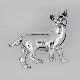 Zierfigur Katze in echt Sterling-Silber, Standmodell