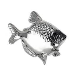 Zierfigur Fisch in echt Sterling-Silber 925, Standmodell