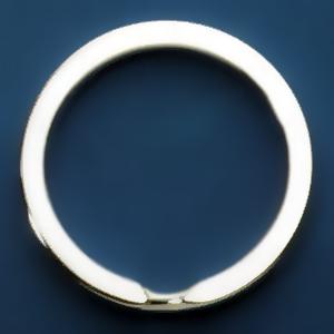 Spaltring, Schlüsselring in Silber 925, 046