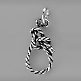 Anhänger Seemannsknoten in echt Sterling-Silber 925 oder Gold, Charm, Ketten- oder Bettelarmband-Anhänger