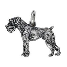 Anhänger Schnauzer, Hund in echt Sterling-Silber 925 oder Gold, Ketten- oder Schlüssel-Anhänger