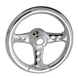 Federring Lenkrad, Schlüsselring mit Schnappverschluss, Schlüsselmechanik in Silber 925/000 für Anhänger