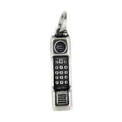 Anhänger Handy in echt Sterling-Silber 925 oder Gold, Charm, Ketten- oder Bettelarmband-Anhänger