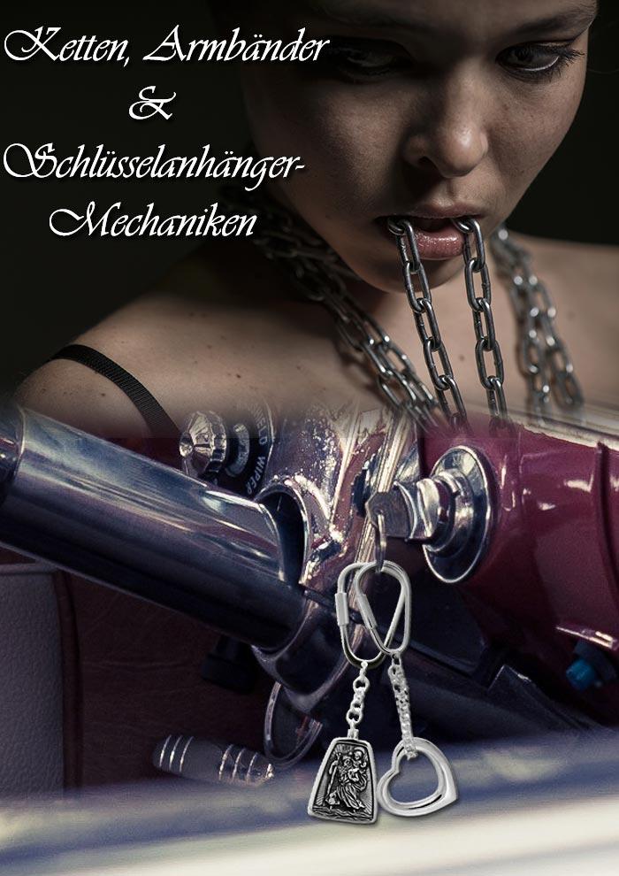 Ketten, Armbänder und Schlüsselanhänger-Mechaniken in Silber und Gold