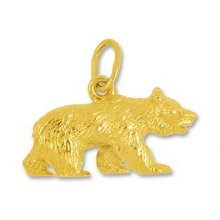 Anhänger Berner Bär in Silber oder Gold, Charm N1022, Kettenanhänger oder Bettelarmband-Anhänger