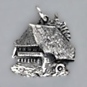 Anhänger Schwarzwaldhaus in echt Sterling-Silber 925 oder Gold, Charm, Ketten- oder Bettelarmband-Anhänger