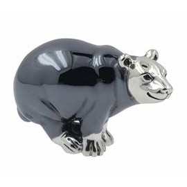 Zierfigur Eisbär in echt Sterling-Silber 925, Standmodell