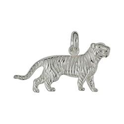 Anhänger Tiger in echt Sterling-Silber 925 oder Gelbgold, Ketten- oder Schlüssel-Anhänger