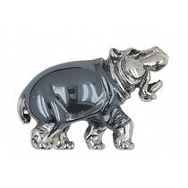 Zierfigur Nil-, Flusspferd in echt Sterling-Silber 925, Standmodell