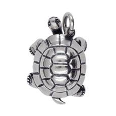 Anhänger Schildkröte in echt Sterling-Silber 925 oder Gold, Ketten- oder Schlüssel-Anhänger