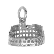 Anhänger Rom, Kolosseum in echt Sterling-Silber 925 oder Gelbgold, Charm, Ketten- oder Bettelarmband-Anhänger