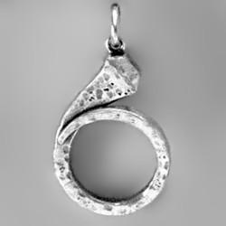 Anhänger Hufnagel in echt Sterling-Silber 925 und Gold, Ketten- oder Schlüssel-Anhänger