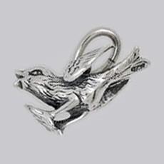 Anhänger Spatz in echt Sterling-Silber 925 oder Gold, Charm, Ketten- oder Bettelarmband-Anhänger