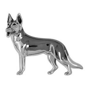 Zierfigur Schäferhund in echt Sterling-Silber 925, Standmodell