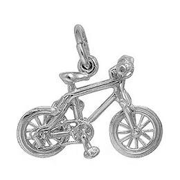 Anhänger Mountainbike in echt Sterling-Silber 925 oder Gelbgold, Charm, Ketten- oder Bettelarmband-Anhänger