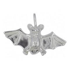 Anhänger Fledermaus in echt Sterling-Silber weiß oder Gelbgold, Kettenanhänger oder Schlüssel-Anhänger