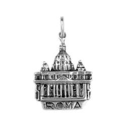Anhänger Rom, Petersdom in echt Sterling-Silber 925 oder Gold, Ketten- oder Schlüssel-Anhänger