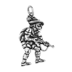 Anhänger Jagd, Jagen, Charms in Silber & Gold