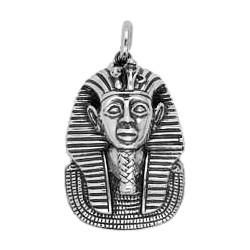 Anhänger Tutanchamun in echt Sterling-Silber 925 und Gold, Ketten- oder Schlüssel-Anhänger