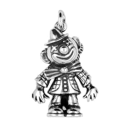 Anhänger Clowns und Spiele, Charms in Silber & Gold