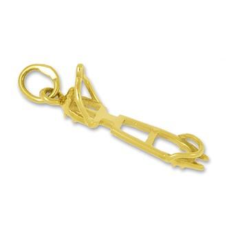 Anhänger Steigeisen in echt Sterling-Silber 925 oder Gold, Charm, Ketten- oder Bettelarmband-Anhänger