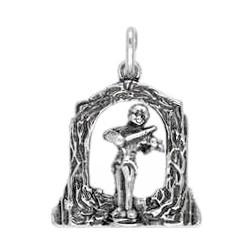 Anhänger Wien, Johann Strauss in echt Sterling-Silber oder Gold, Charm, Ketten- oder Bettelarmband-Anhänger