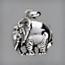 Anhänger Elefant in echt Sterling-Silber oder Gelbgold, Charm, Kettenanhänger oder Bettelarmband-Anhänger