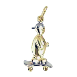 Anhänger Skateboarden, Charms in Silber & Gold