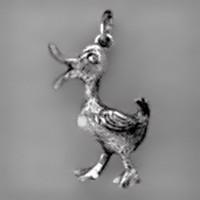 Anhänger Erpel, Enterich in echt Sterling-Silber 925 oder Gold, Charm, Ketten- oder Bettelarmband-Anhänger