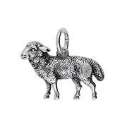 Anhänger Schaf in echt Sterling-Silber 925 oder Gold, Charm, Ketten- oder Bettelarmband-Anhänger