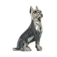Zierfigur Boxer, Hund in echt Sterling-Silber oder Gold, Standmodell