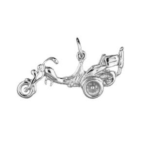 Anhänger Trike in echt Sterling-Silber 925 oder Gold, Charm, Ketten- oder Bettelarmband-Anhänger