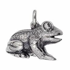 Anhänger Frosch in echt Sterling-Silber oder Gold, Ketten- oder Schlüssel-Anhänger