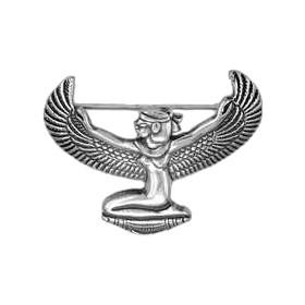 Brosche Isis in echt Sterling-Silber 925 oder Gold, Silberbrosche, Goldbrosche