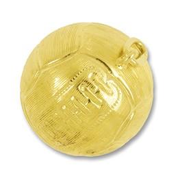 Anhänger Volleyball in echt Gold, Ketten- oder Schlüssel-Anhänger