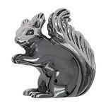 Zierfigur Eichhörnchen in echt Sterling-Silber 925, Standmodell