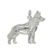 Anhänger Wolf in Sterling-Silber 925 oder Gelbgold, Ketten- oder Schlüssel-Anhänger
