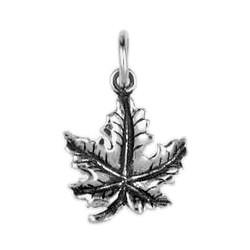 Anhänger Ahorn-, Laubblatt in echt Sterling-Silber 925 oder Gold, Charm, Ketten- oder Bettelarmband-Anhänger
