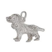 Anhänger Cocker Spaniel, Hund in echt Sterling-Silber 925 oder Gelbgold, Charm, Ketten- oder Bettelarmband-Anhänger