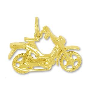 Anhänger Moped in echt Gold, Charm, Ketten- oder Bettelarmband-Anhänger