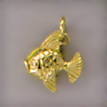 Anhänger Fisch in echt Sterling-Silber oder Gold, Charm, Kettenanhänger oder Bettelarmband-Anhänger