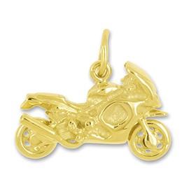 Anhänger Honda Fireblade Superbike in echt Sterling-Silber 925 oder Gold, Charm, Ketten- oder Bettelarmband-Anhänger